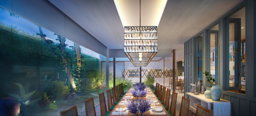 Luxurious Dining close to nature