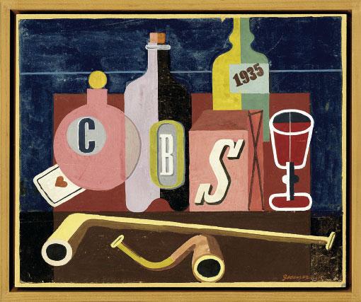 Entwurf für das Wandbild im Café Select in Zürich, 1935