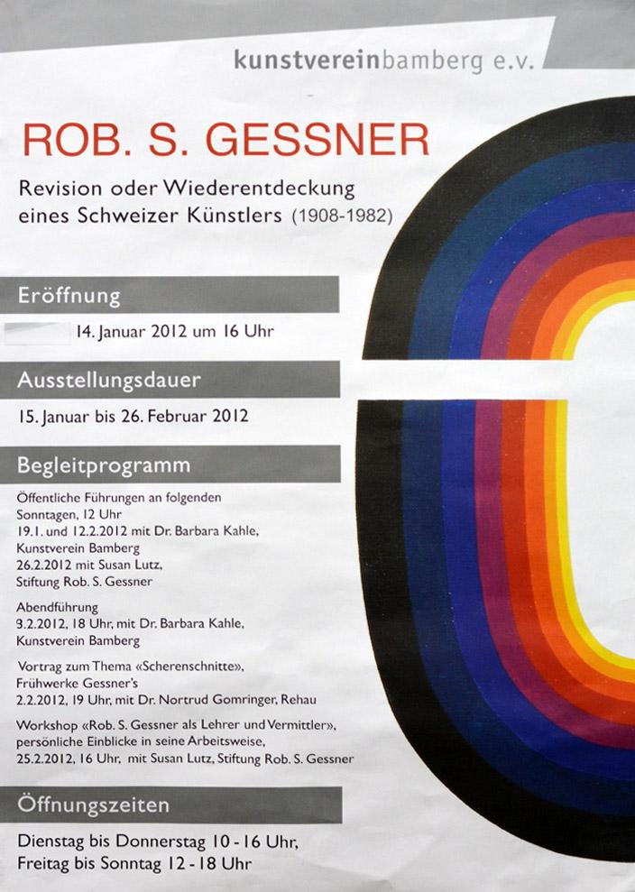 Plakat zur Ausstellung im Kunstverein Bamberg