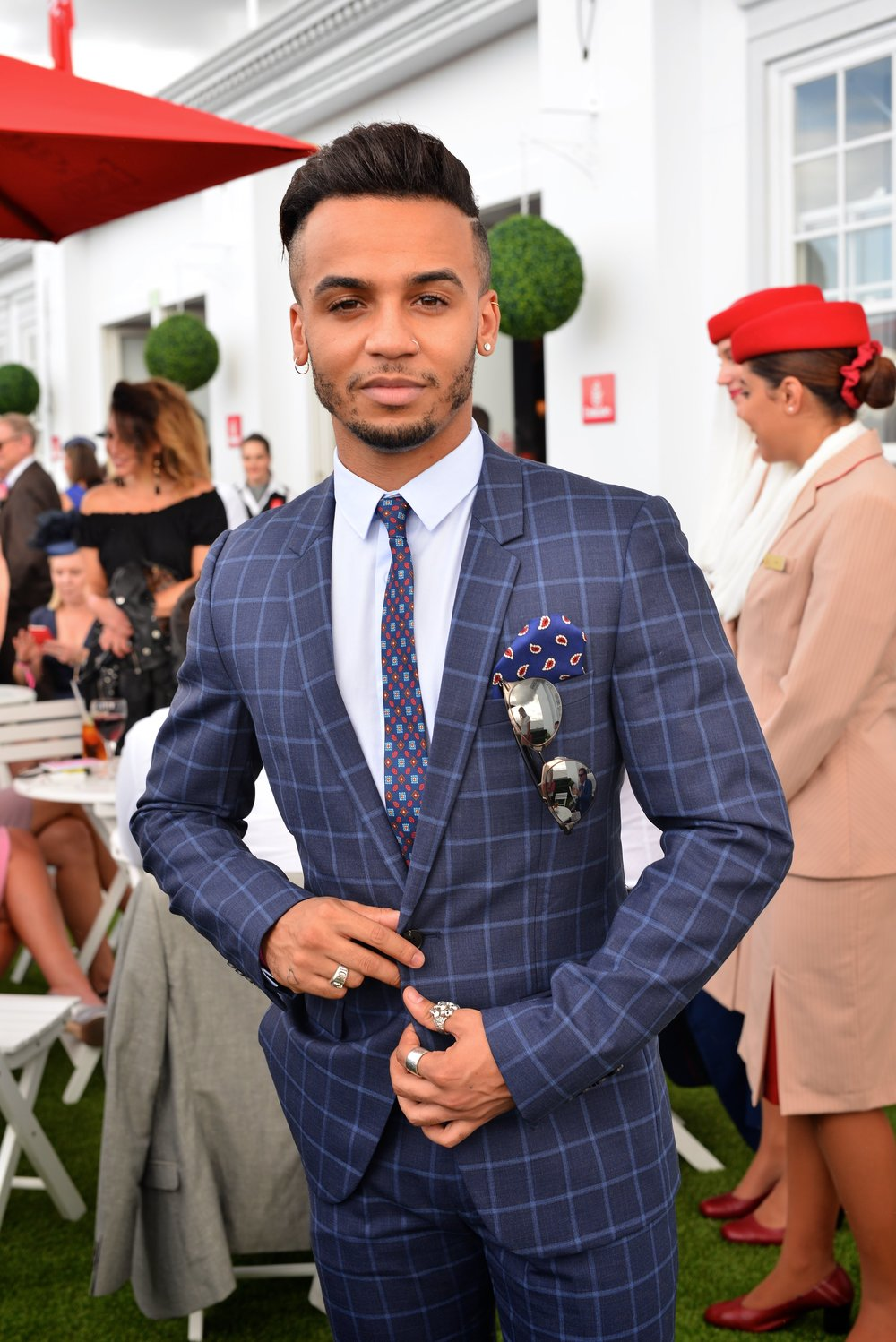British Blood: Aston Merrygold inside the Hello London Emirates Marquee