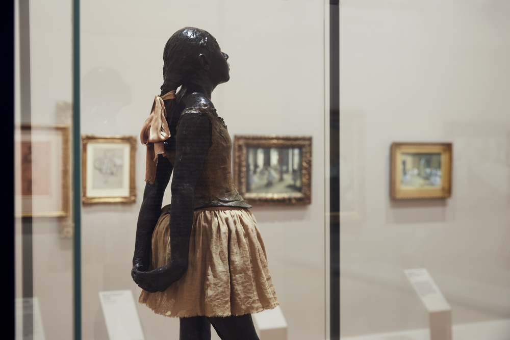 Edgar Degas The little fourteen-year-old dancer 1879–81, cast 1922–37Installation view of Degas: A New Vision at NGV International, 24 June – 18 September 2016. Photo: Tom Ross