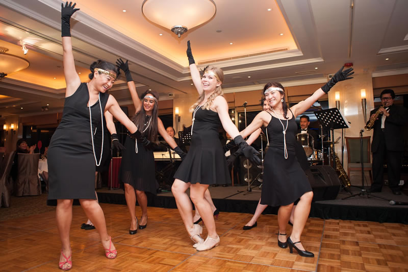 Our dancing volunteers perform the Charleston during a successful fundraising evening