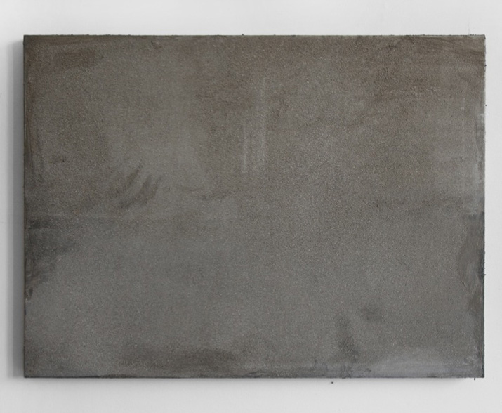 Monochrome. After. Untitled (meadows on the Landwehr) , 2015 dust on oil on canvas, 53.5 x 72.5 cm