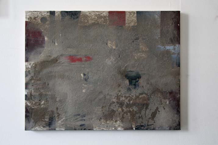 Pissed. After. Nature Morte.,  2014 dust and urine on acrylic on canvas, 50 x 65 cm