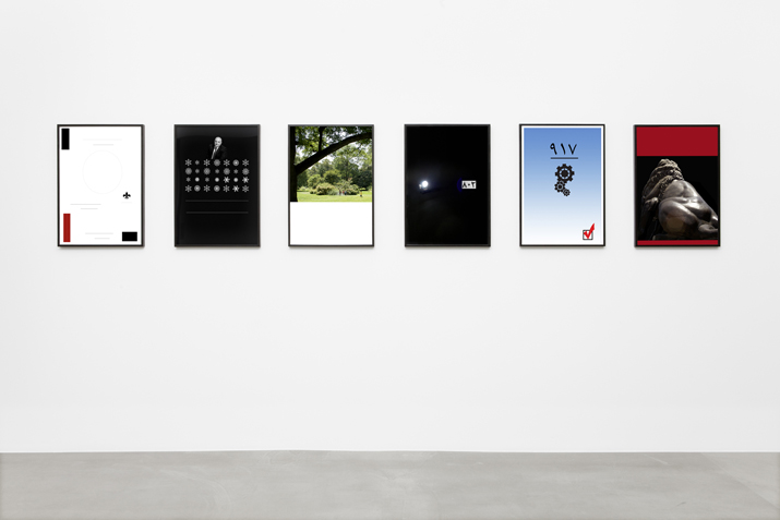 Iman Issa,  Colors, Lines, Numbers, Symbols, Shapes, and Images , 2010 series of framed poster, archival inkjet print, 68.5 x 48 cm each