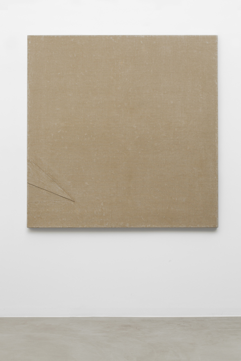 B73 , 1973 canvas, binding agent, 150 x 150 cm