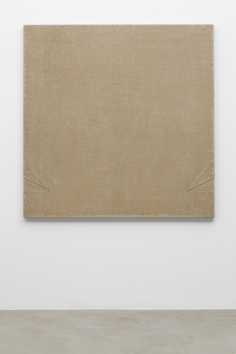 B74 , 1975 canvas, binding agent, 150 x 150 cm