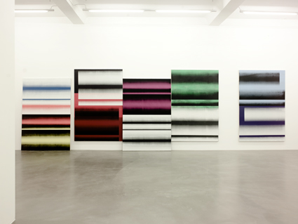 Alexander Wagner,  Untitled , 2013 acrylics and gouache on canvas, 220 x 150 cm