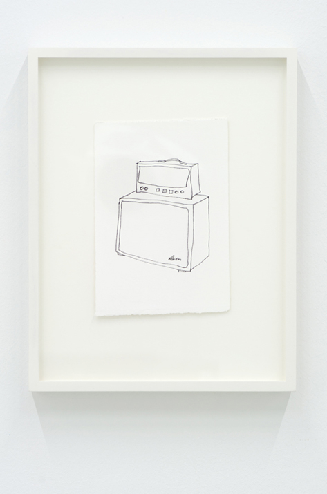 Untitled 1 (from the series Amps),  2012 ink on paper, 4 x 6 inches