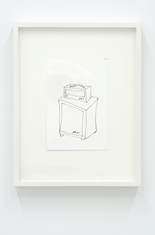 Untitled (from the series Amps) , 2012 ink on paper, 4 x 6 inches
