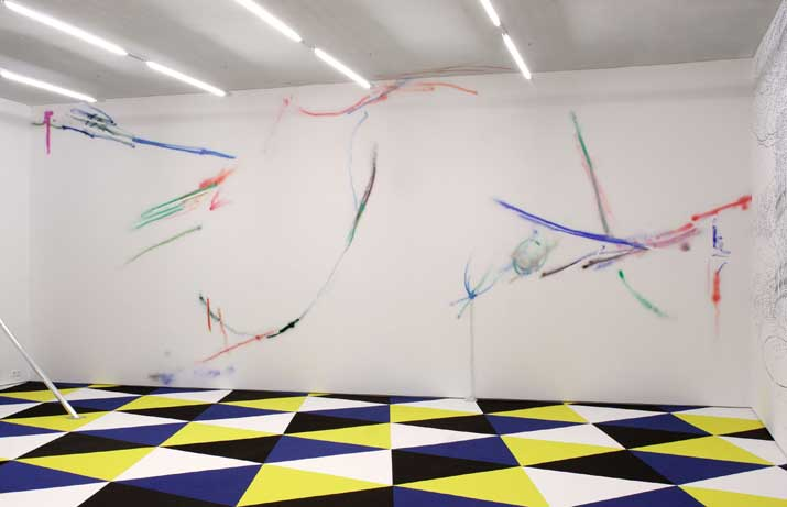 Andrea Winkler,  Untitled , 2010 graphik spray, acrylic lacquer, car lacquer, 9,27 x 3,84 m