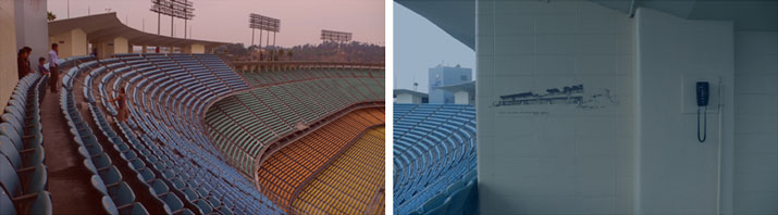 Think Blue (diptych #1),  2006-10 digital photography, 70 x 125 cm each