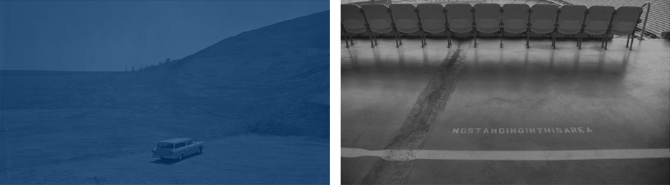 Think Blue (diptych #2),  2006-10 digital photography, 70 x 125 cm each