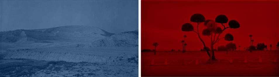 Think Blue (diptych #4) , 2006–2010 digital photography, 70 x 125 cm each