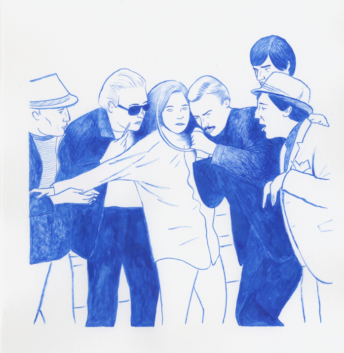 Rodrigo Hernández, AutokonßtrukSchön , 2012 ink on paper, 21,9 x 29 cm