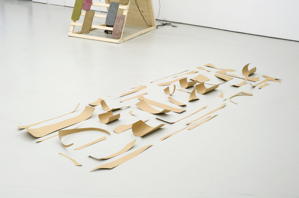 Daniela Baldelli,  Untitled , 2012 cardboard, dimensions variable