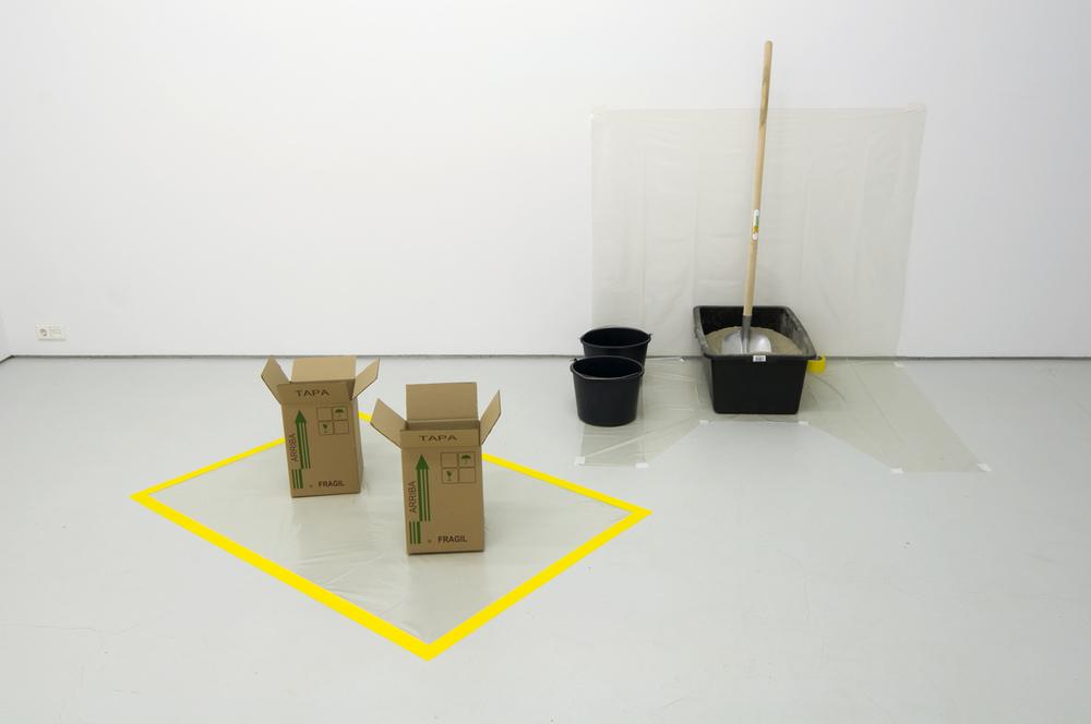 Javier Hinojosa, Arbeit und Freizeit (2) – Fiesta y ensayo (2) , 2012 performance, installation