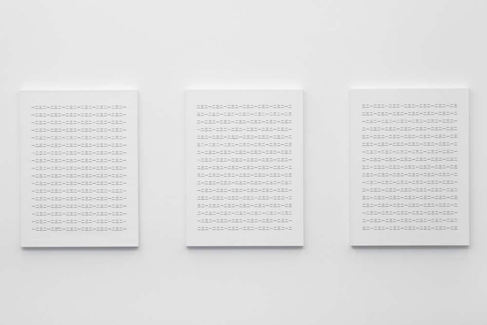 Untitled  from the series  The Chinese Version,  2014 acryic on canvas, triptych, 100 x 75 cm each
