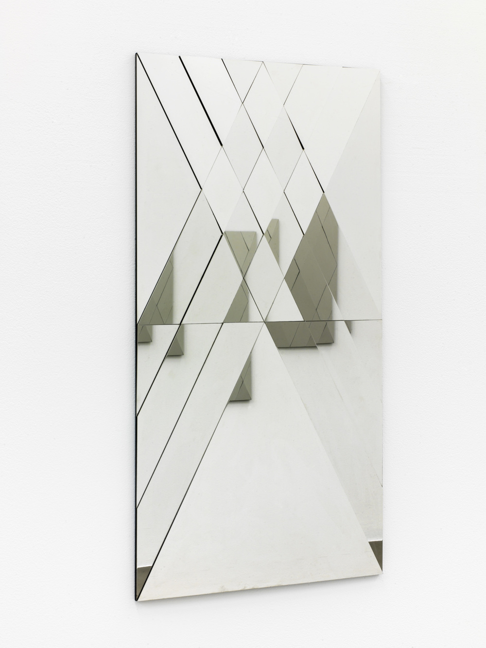 Untitled , 2015 polished stainless steel, 33 x 80 cm