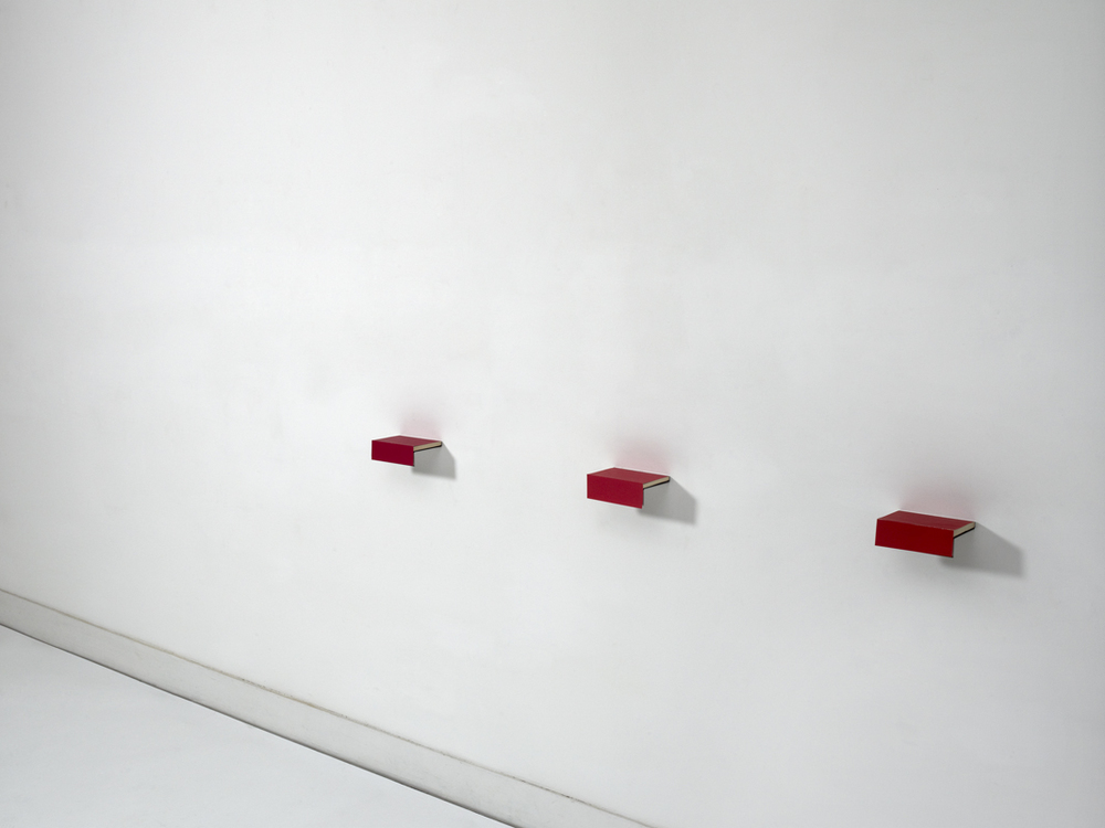 Fernanda Fragateiro  No Color #3 , 2011 books and polished stainless steel, 5.5 x 2 x 171