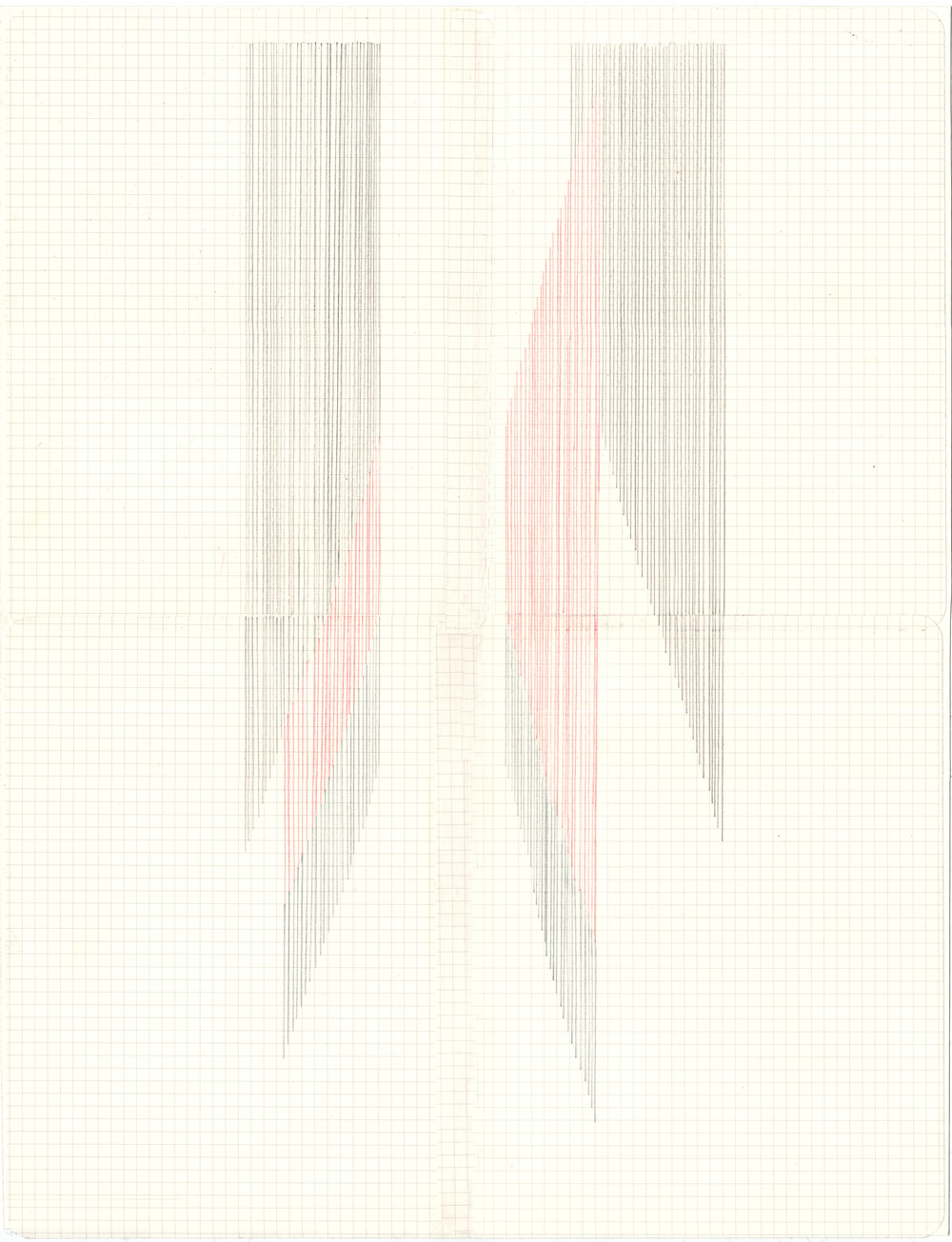 Flow , 2014 colored pencil on paper (framed), 42 x 29,7 cm