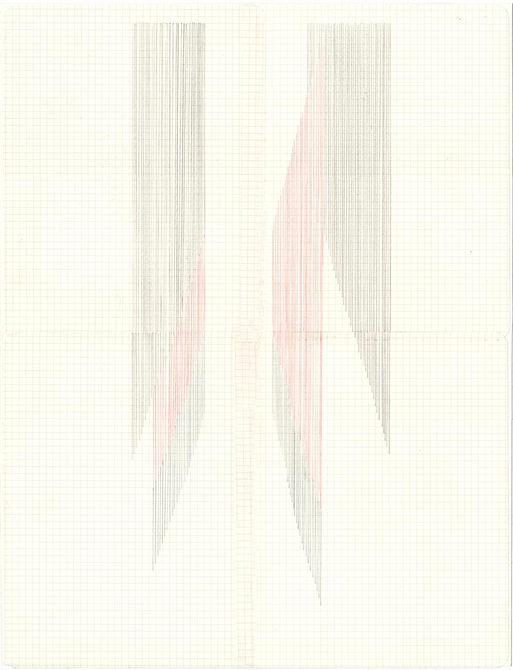 Haleh Redjaian  Flow , 2014 colored pencil on paper (framed), 42 x 29,7 cm