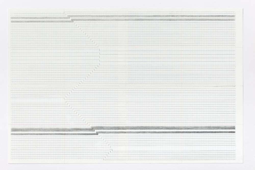 Haleh Redjaian  Untitled (5/9) , 2015 pencil on paper, 46 x 32 x 3 cm framed