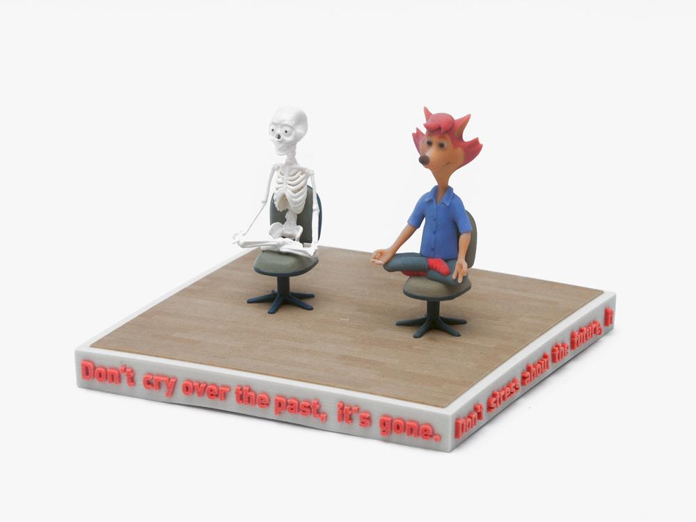 Ed Fornieles,  A Bigger Splash , 2016, 3D print,20x20x15cm