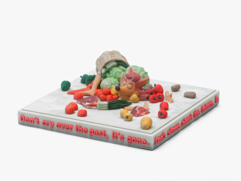 Ed Fornieles,  The Ticket , 2016, 3D print, 20x20x15cm