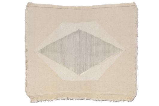 Haleh Redjaian   Untitled (C_XXV) , Threads and print on handwoven carpet, 65 x 55 cm,2016