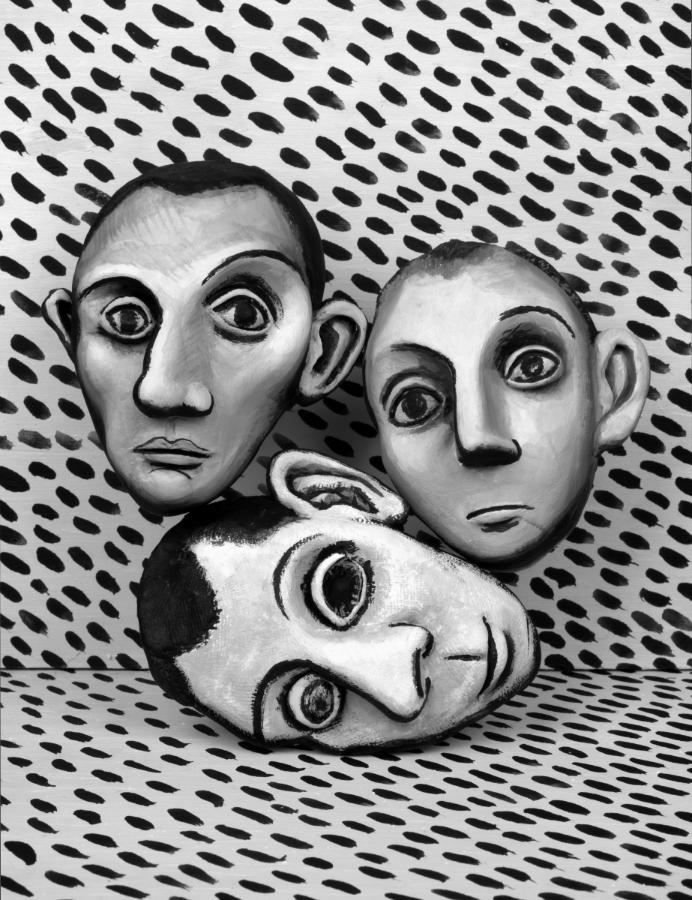 Mary Reid Kelley   Three Picasso Heads   Pigment Ink Print, 57 x 42 cm  2015