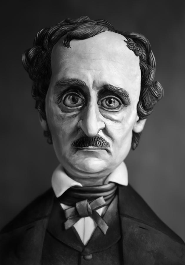 Mary Reid Kelley   Edgar Allan Poe (Ultima Thule)   Pigment Ink Print, 57 x 36,5 cm  2015