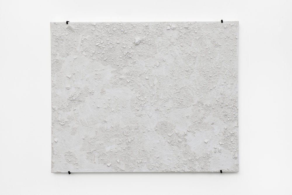 Maria Anwander,  Sculpture on Canvas , 2016, plaster on canvas, 80 x 100 cm