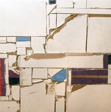 Unfolded architecture (Monochromatic muralism No. 18) , 2012 drywall from Museum of Modern Art Mexico, 100 x 100 cm