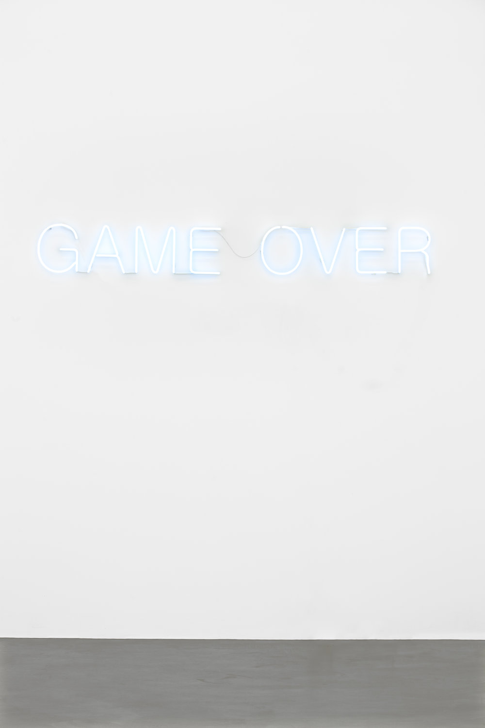 Untitled (Game Over) , 2016 neon, 27 x 217 cm, 3 + 1 AP