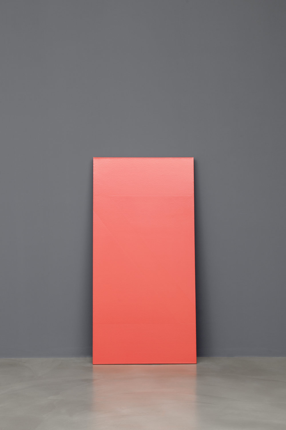 Wedge , 2015 one shot sign paint on canvas 153,4 x 75,8 cm (60 3/8 x 29 7/8 in)