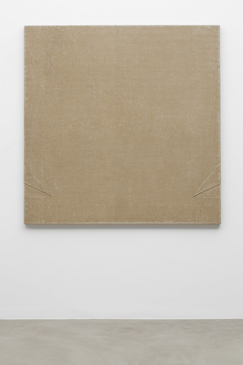Friedrich Teepe  B 74 , 1973 canvas, binding agent, 150 x 150 cm