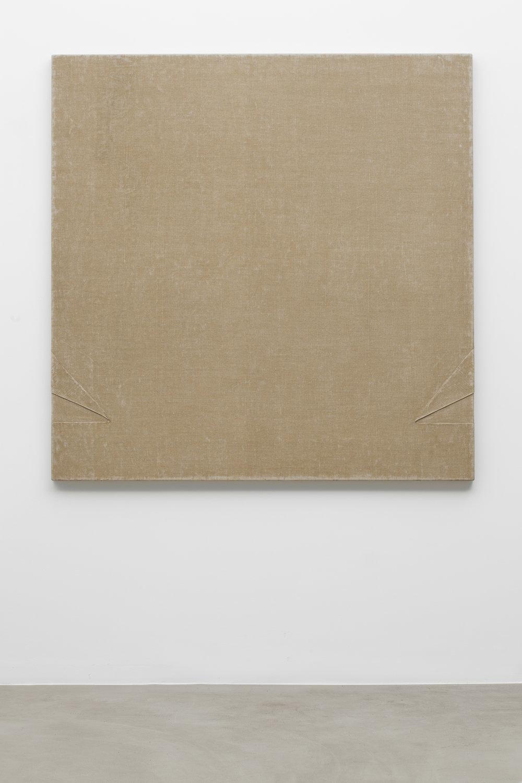B 74 , 1973 canvas, binding agent,150 x 150 cm