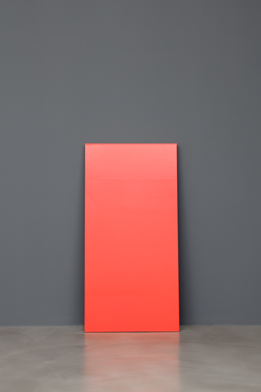 Matthew Metzger  Wedge , 2015 one shot sign paint on canvas, 153,4 x 75,8 cm