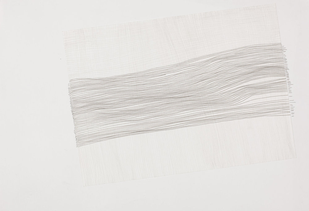 Haleh Redjaian  Side effect , 2012 Ink, pencil on paper, 33 x 48 cm gerahmt