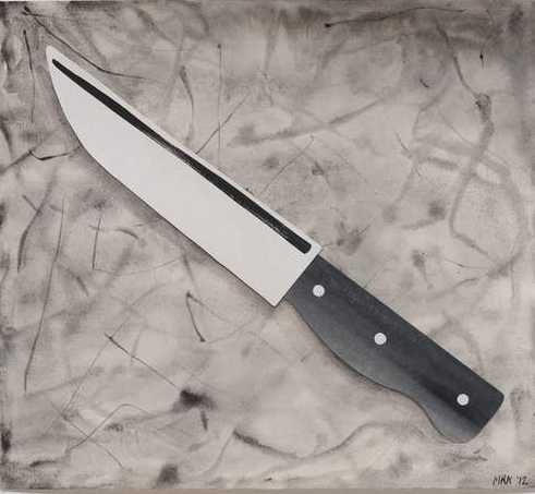 Mary Reid Kelley  Pairing Knife,  2012 collage, watercolor and charcoal on paper