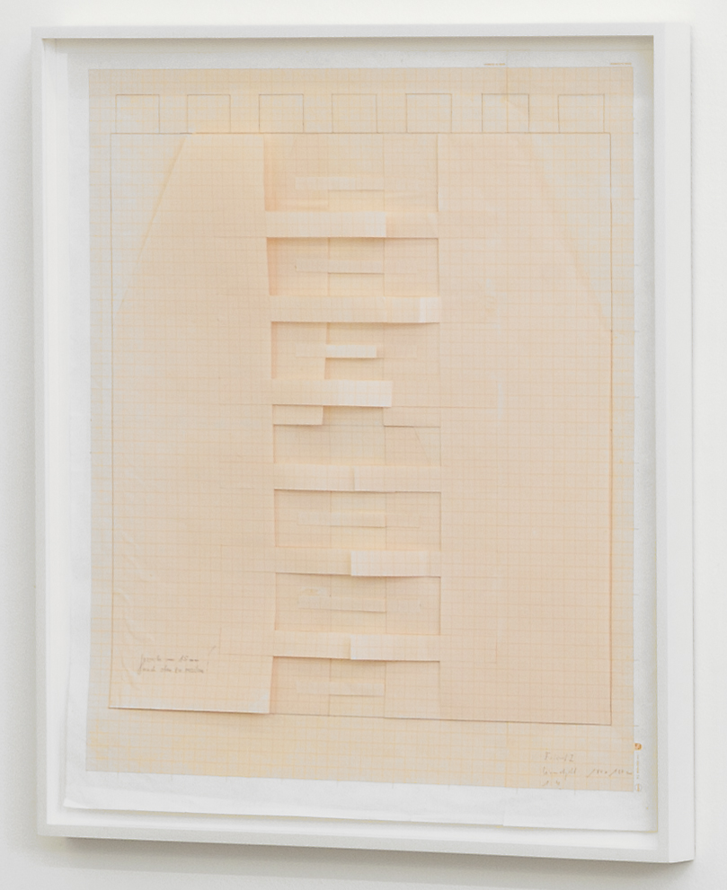 Untitled , early 1980s construction drawing on scale paper, 59 x 52,5 cm
