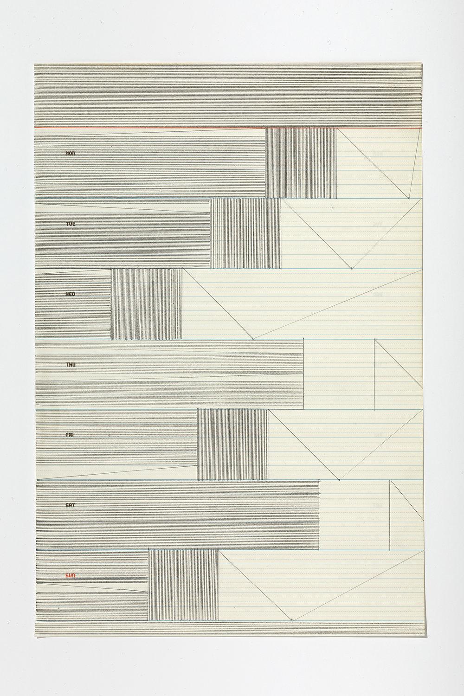 Untitled (3/6) ,2017 graphite on paper, 28,5 x 19,5 cm