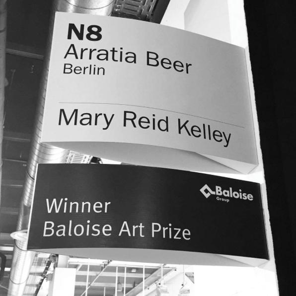 Winner of Baloise Art Prize, 2016