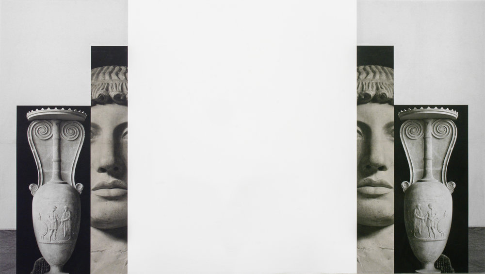Claudia Wieser  Untitled (Diptych),  2015 wallpaper, 114 x 238 cm (each)