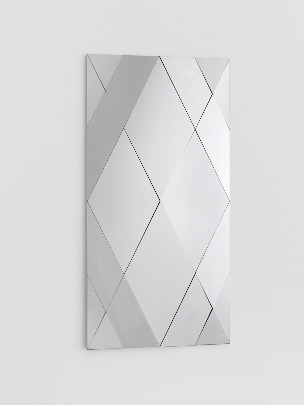 Untitled,  2015, Polished stainless steel, 40 x 80 cm