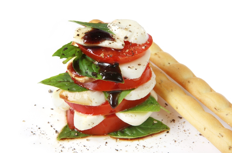 Sticky Balsamic Caprese Salad