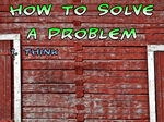 how to solve a problem