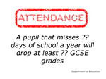 attendance directly affects results