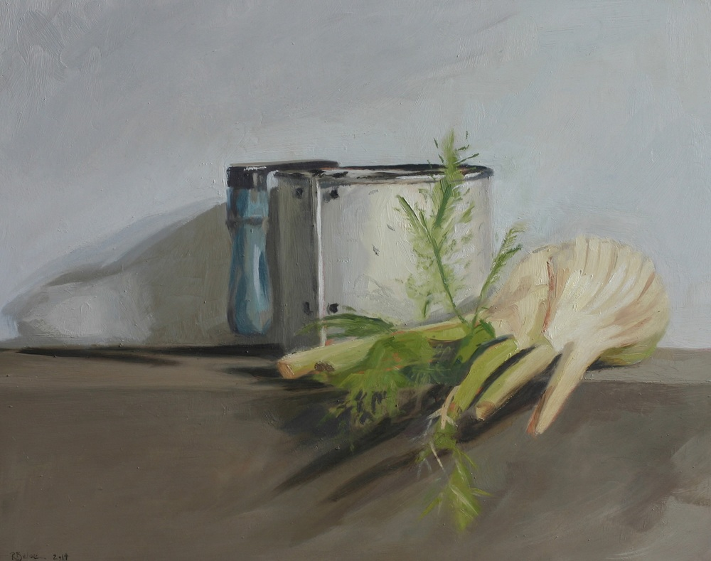Flour Sifter and Fennel oil on gesso panel 24 x 30 cm £650